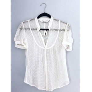 [Trina Turk] NWT Polka Dot Sheer Silk Blouse